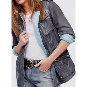 Free People Double cloth Military Jacket M NWT